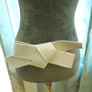Torrid Gray Tie Belt Size 1X